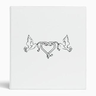 Doves and Heart Vinyl Binders