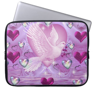 Doves and Hearts Laptop Sleeve