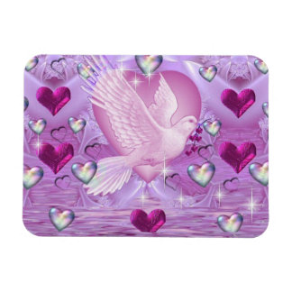 Doves and Hearts Magnet
