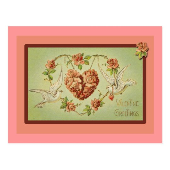 Doves and Hearts Valentine Cards