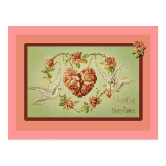 Doves and Hearts Valentine Cards Post Card