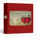 Doves And Hearts Vintage Valentine Binder