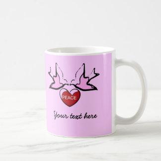 doves and Peace Heart Coffee Mug