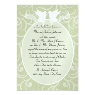 Doves and Ribbon/ Wedding Card