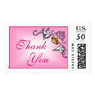Doves and Rings Ornamental (1) Thank You Postage