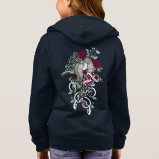Doves and Roses Graphic Girls Hoodie