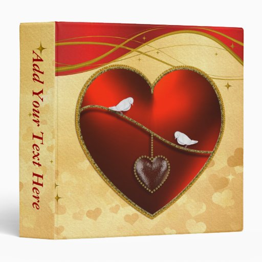 Doves and Ruby Red Heart Binders
