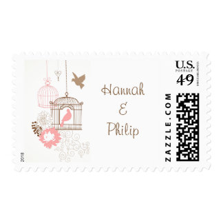 Doves & Cages - Postage Stamps