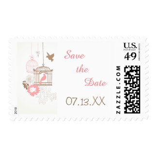 Doves & Cages - Save the Date Stamp