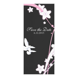 Doves & Flowers Custom Announcements