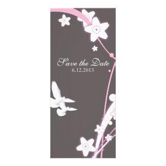 Doves & Flowers Custom Invitation