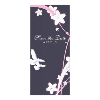 Doves & Flowers Personalized Invitation