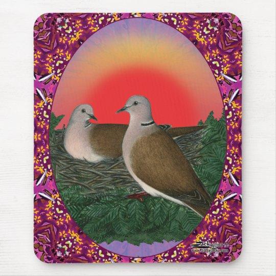 Doves Framed Mouse Pad
