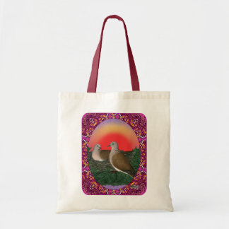 Doves Framed Tote Bag