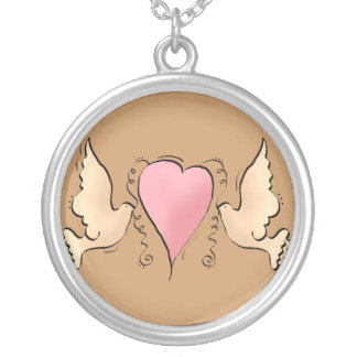 Doves Heart Necklace
