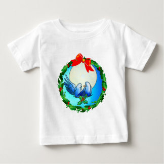 DOVES & HOLLY WREATH by SHARON SHARPE Baby T-Shirt