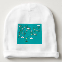 Doves in a Tree Baby Beanie