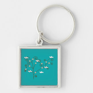 Doves in a Tree Keychain