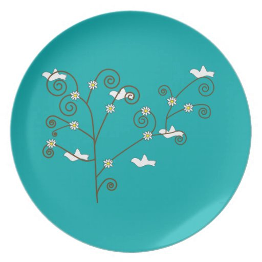 Doves in a Tree Plate
