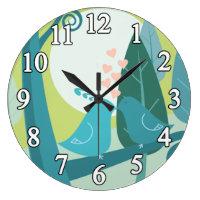 Doves In Love Clock