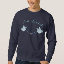 Doves Just Married Sweatshirt