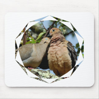 Doves lovers love peace and joy mouse pad