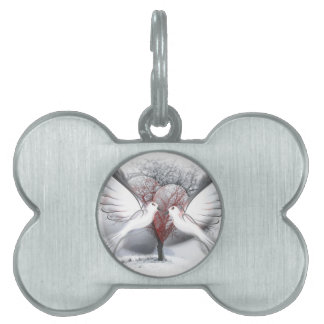 Doves Of Peace Pet Name Tag