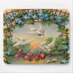 Doves Roses Birthday Mouse Mat