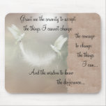 Doves Serenity Prayer Mousepad ~ beige