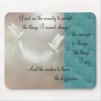 Doves Serenity Prayer Mousepad ~ gold