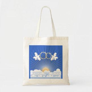 Doves with Wedding Rings Custom Bag