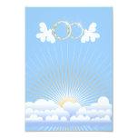"Doves with Wedding Rings Custom  Invitation 3.5"" X 5"" Invitation Card"