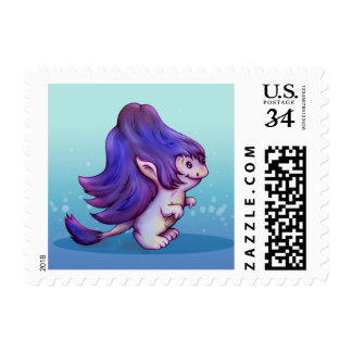 """DOVIC CUTE MONSTER Small 1.8"""" x 1.3"""" Postage"""