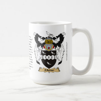 Dow name, the Origin, the Meaning and the Crest Coffee Mug