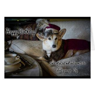 Dowager Duchess Birthday Corgi Card