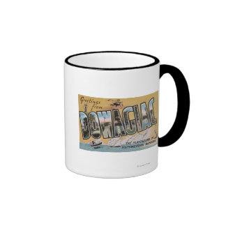 Dowagiac, Michigan - Large Letter Scenes Ringer Mug