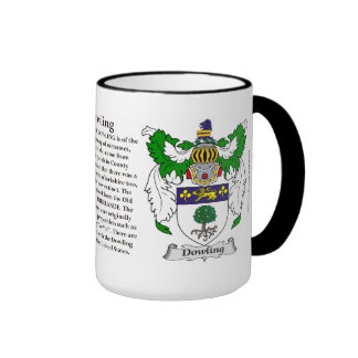Dowling Family Coat of Arms Ringer Coffee Mug