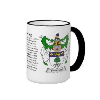 Dowling Family Coat of Arms Ringer Mug