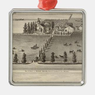 Dowling, Marston residences Christmas Ornament