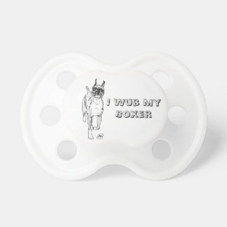 """""""Down and Back"""" Boxer Art Pacificer Pacifier"""