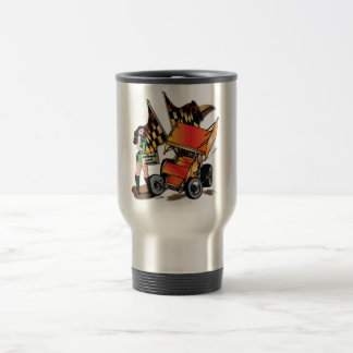 Down and Dirty Sprint Car Stainless Mug