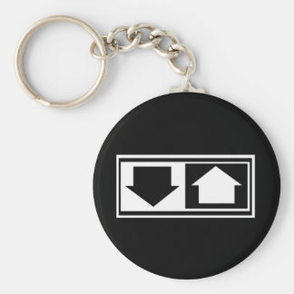 Down and Up Key Chains