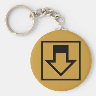 Down Arrow Keychain