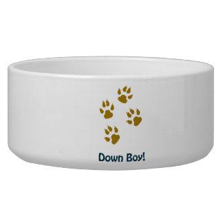 """""""Down Boy"""" Dog Bowl"""