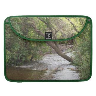 Down by the Creek Nature Macbook Pro Flap Sleeve MacBook Pro Sleeve