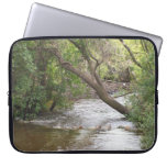 Down by the Creek Nature Photo Trees Water Laptop Sleeve