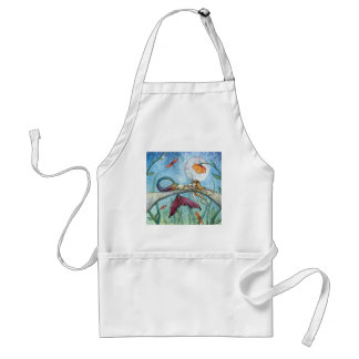 Down by the Pond Mermaid Art Adult Apron