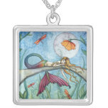 Down by the Pond Mermaid Sterling Silver Necklace