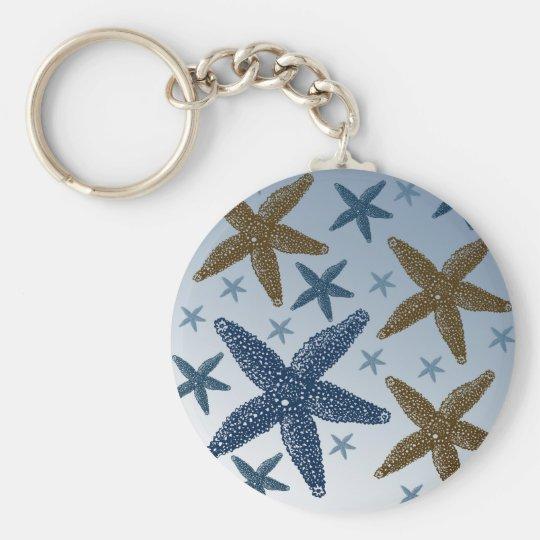 Down by the Sea Starfish Keychain
