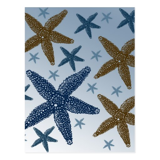 Down by the Sea Starfish Postcard